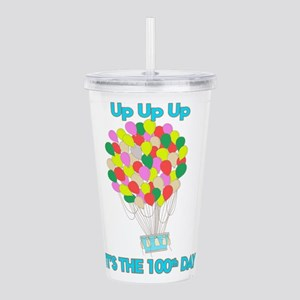 100th Day Of School Up Acrylic Double-wall Tumbler