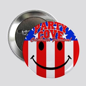 """Party Cove-Happy Face 2.25"""" Button"""