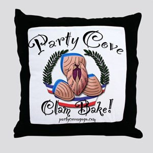 Party Cove-Clam Bake Throw Pillow