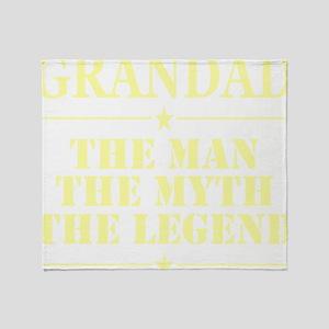 Grandad The Man The Myth The Legend Throw Blanket