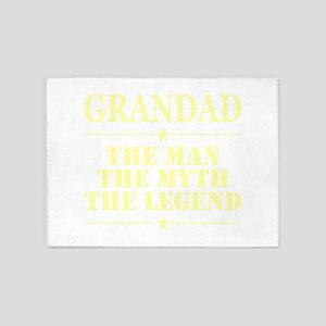 Grandad The Man The Myth The Legend 5'x7'Area Rug