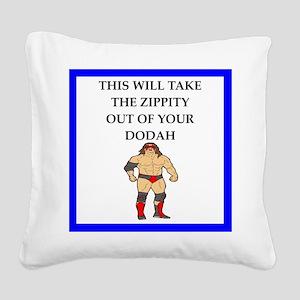 Wrestling Square Canvas Pillow