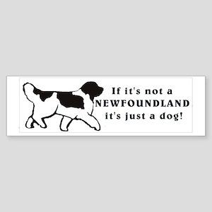 "Landseer ""Just a Dog""Newfoundland Bumper Sticker"