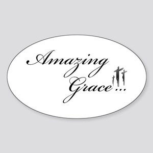 Amazing Grace Oval Sticker