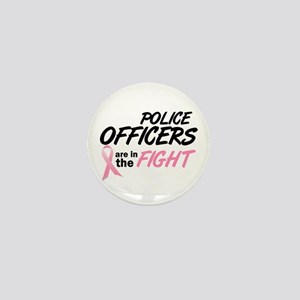 Police Officers In The Fight Mini Button