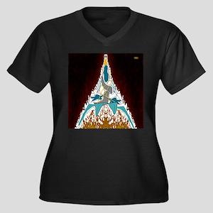 25th Pattern; Jet, Maze Art Plus Size T-Shirt