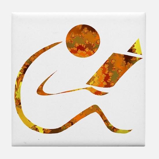Reader - Golden - Sans Quote Tile Coaster