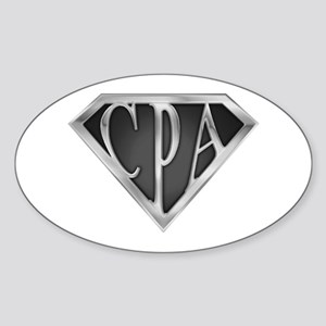 Super CPA - Metal Oval Sticker
