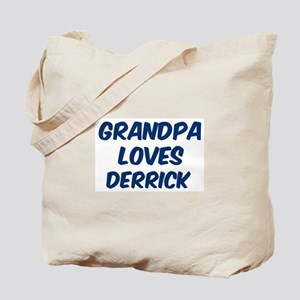 Grandpa loves Derrick Tote Bag