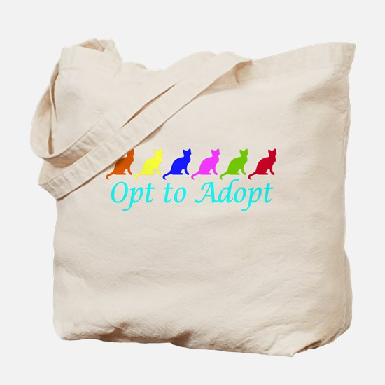 Rainbow Opt to Adopt Tote Bag