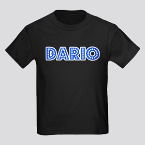 Retro Dario (Blue) Kids Dark T-Shirt