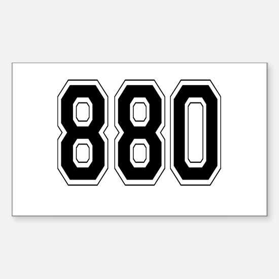 880 Rectangle Decal
