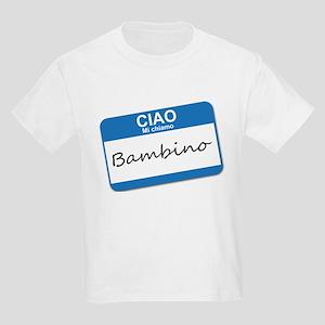 Ciao Mi Chiamo Bambino Kids Light T-Shirt