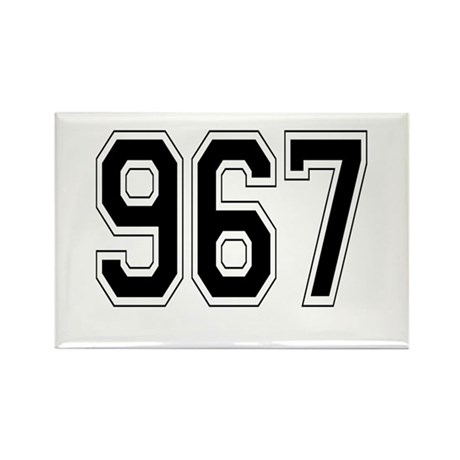 967 Rectangle Magnet (10 pack)