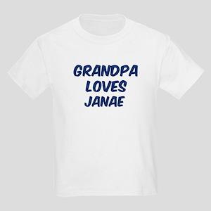 Grandpa loves Janae Kids Light T-Shirt