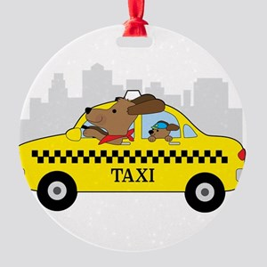 New York Taxi Dog Ornament