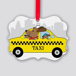New York Taxi Dog Ornament