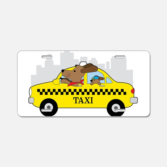 New York Taxi Dog Aluminum License Plate