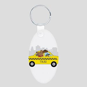 New York Taxi Dog Keychains