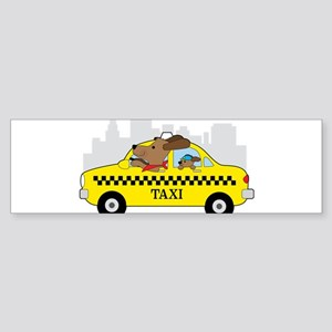 New York Taxi Dog Bumper Sticker