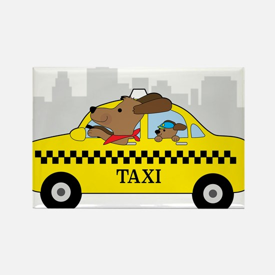 New York Taxi Dog Magnets