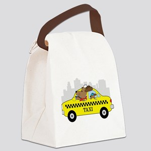New York Taxi Dog Canvas Lunch Bag