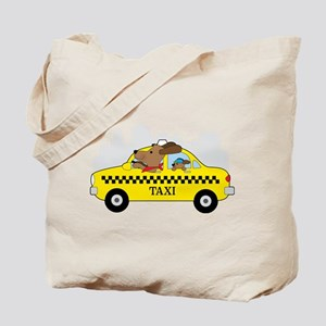 New York Taxi Dog Tote Bag