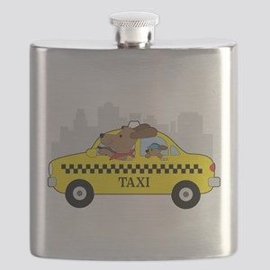 New York Taxi Dog Flask