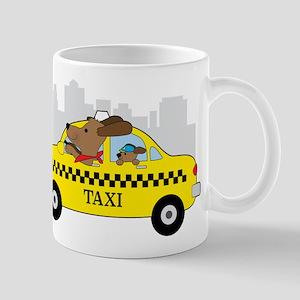 New York Taxi Dog Mugs