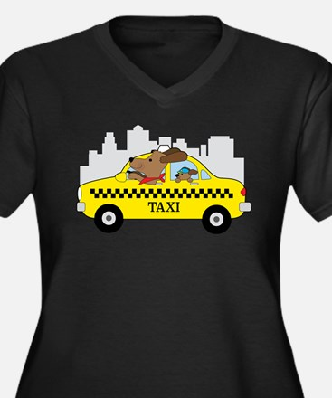 New York Taxi Dog Plus Size T-Shirt
