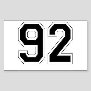 92 Rectangle Sticker