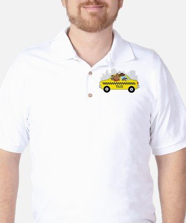 New York Taxi Dog Golf Shirt