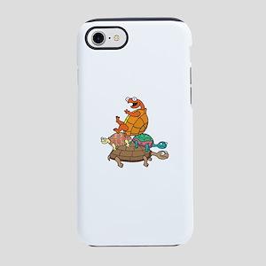 Cartoon Peace Turtle Stack of 4 iPhone 8/7 Tough C