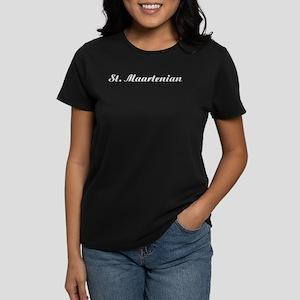 Classic St. Maartenian Women's Dark T-Shirt