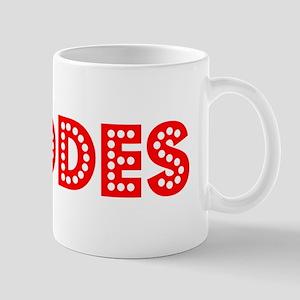 Retro Rhodes (Red) Mug