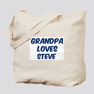 Grandpa loves Steve Tote Bag