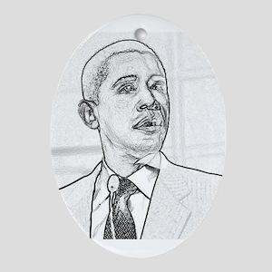 Obama Hope 08 Oval Ornament