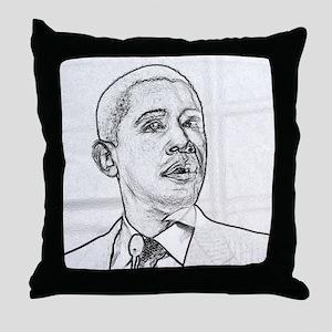 Obama Hope 08 Throw Pillow