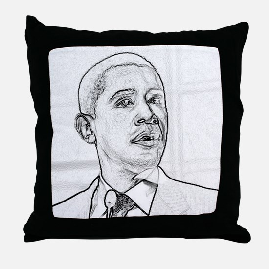 Obama Hope 08 Throw Pillow