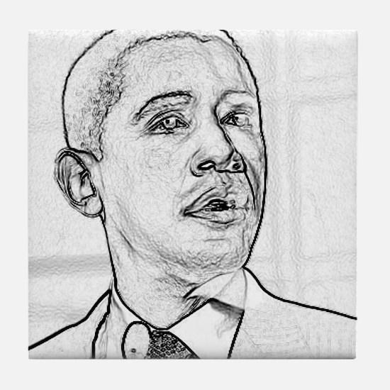 Obama Hope 08 Tile Coaster
