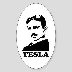 Tesla Oval Sticker