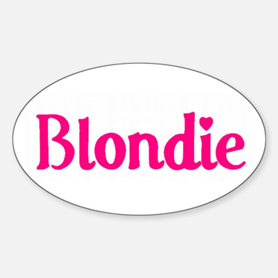 Pink/White Blondie Oval Decal
