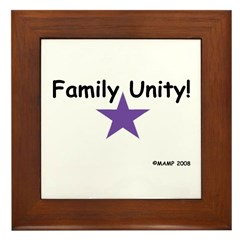 Family Unity! Framed Tile by MAMP Creations