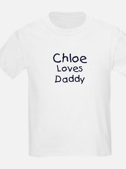 Chloe loves daddy T-Shirt