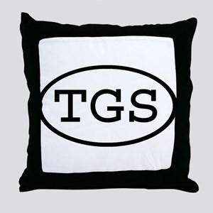 TGS Oval Throw Pillow