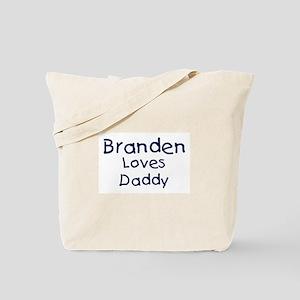 Branden loves daddy Tote Bag