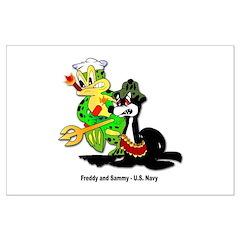 US Navy Freddy & Sammy Posters
