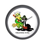 US Navy Freddy & Sammy Wall Clock
