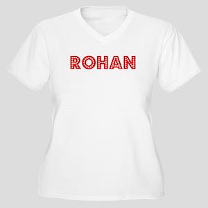 Retro Rohan (Red) Women's Plus Size V-Neck T-Shirt