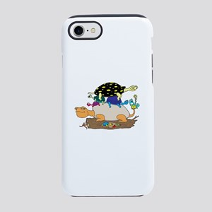 9 Cartoon Turtles Stacked iPhone 8/7 Tough Case